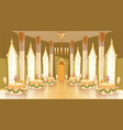 cartoon castle hall ballroom for dancing vector image vector image