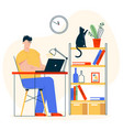 character work at home vector image vector image