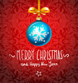 Christmas Card with handmade text ball elements vector image