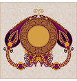 circle floral ornamental vintage template vector image vector image