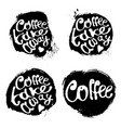 collection of coffee hand draw logo vector image vector image
