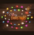 Colorful christmas light bulbs for celebratory vector image vector image