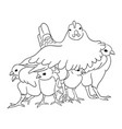 cute chicken line art vector image