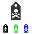 death mark flat icon vector image vector image