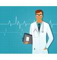 Doctor man vector image vector image