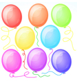 Eight Beautiful Party Balloons vector image