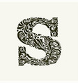 elegant capital letter s in style the vector image