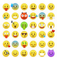 emoticons set emoji faces emoticon smile funny vector image