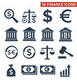 finance icons set on white background vector image vector image