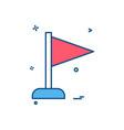 flag location winner icon design vector image