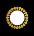 Floral design element or frame vector image vector image