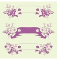Garden flowers and herbs banners vector image