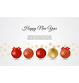 gold and red decorative christmas balls new year vector image vector image