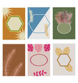 greeting cards with geometric motifs vector image vector image