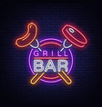 Grill logo in a neon style on