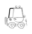 grunge tractor farm vehicle plant transport vector image