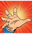 Hand palm power vector image