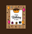 happy birthday card template vector image vector image