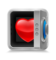 Heart in safe vector image