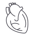 heart sign line icon sign vector image