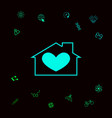 house with heart symbol graphic elements for vector image vector image