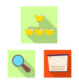isolated object of education and learning logo vector image