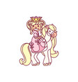 little princess queen vector image vector image