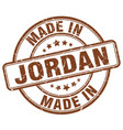 made in jordan brown grunge round stamp vector image vector image