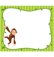 Monkeys frame vector image