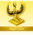 monument is egyptian queen isida in gold vector image