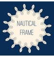 Nautical ropes frame over navy blue background vector image vector image