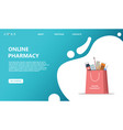 online purchase and delivery of drugs vector image