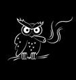 Owl Smoking vector image