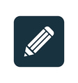 pencil icon rounded squares button vector image vector image