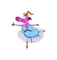 piggy in a tutu doing ballet vector image vector image