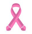 pink ribbon breast cancer awareness symbol vector image vector image