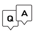 question and answer glyph icon on white vector image vector image