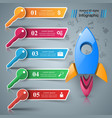 rocket key - 3d business infographic vector image