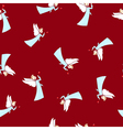 Seamless Winter Pattern Christmas Angel