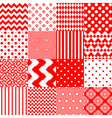 Set of seamless backgrounds with vector image