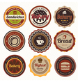 Set of vintage coffee and bakery badges and labels