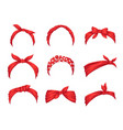 set retro headbands for woman collection of vector image