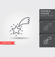 shooting star line icon with editable stroke with vector image vector image