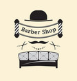signboard barber shop vector image