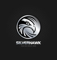 silver hawk emblem logo sign symbol icon vector image