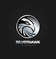 silver hawk emblem logo sign symbol icon vector image vector image