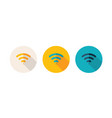 simple flat design icon indicated wi-fi zone vector image vector image