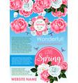 springtime holidays floral greeting poster design vector image vector image