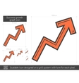 Success growth chart line icon vector image vector image