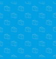 suitcase pattern seamless blue vector image vector image